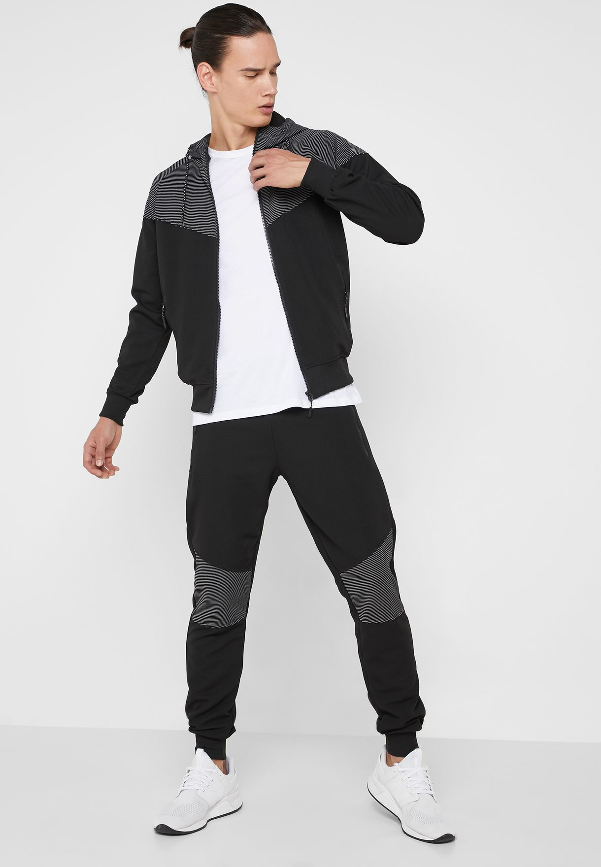 Ribbed Knee Joggers