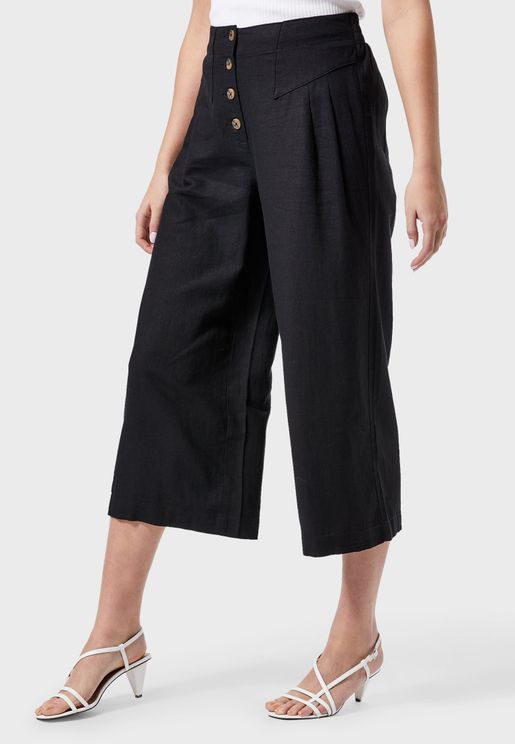 Button Down Linen Culottes