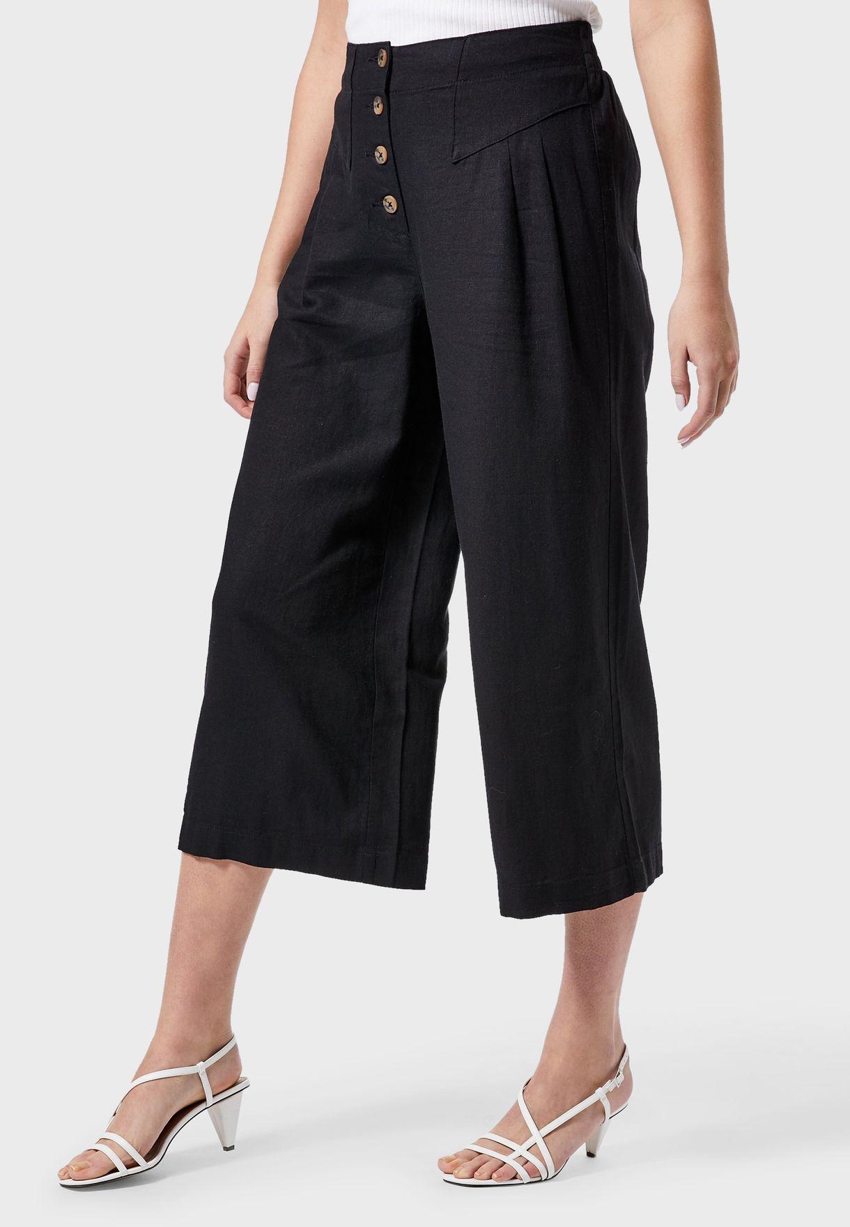 Button Down Linen Culottes