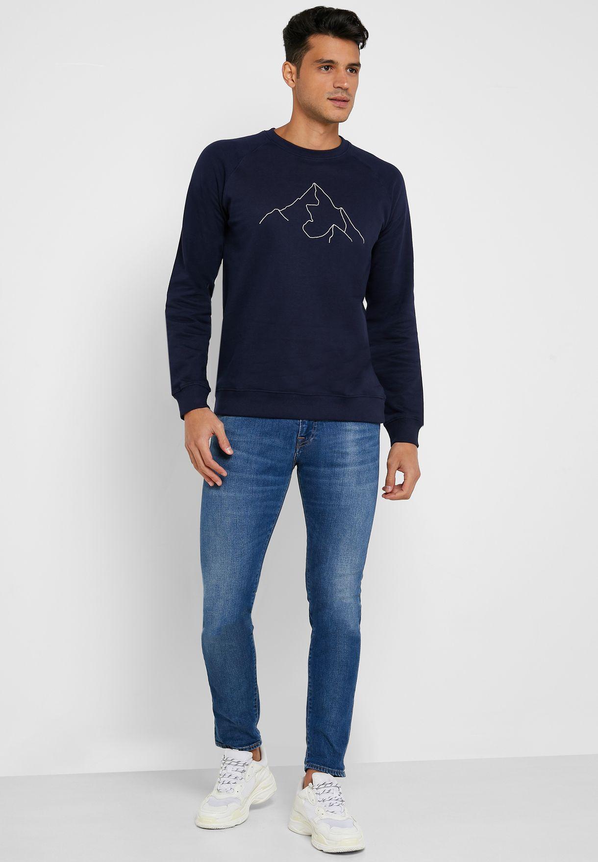 Mountain Print Sweatshirt