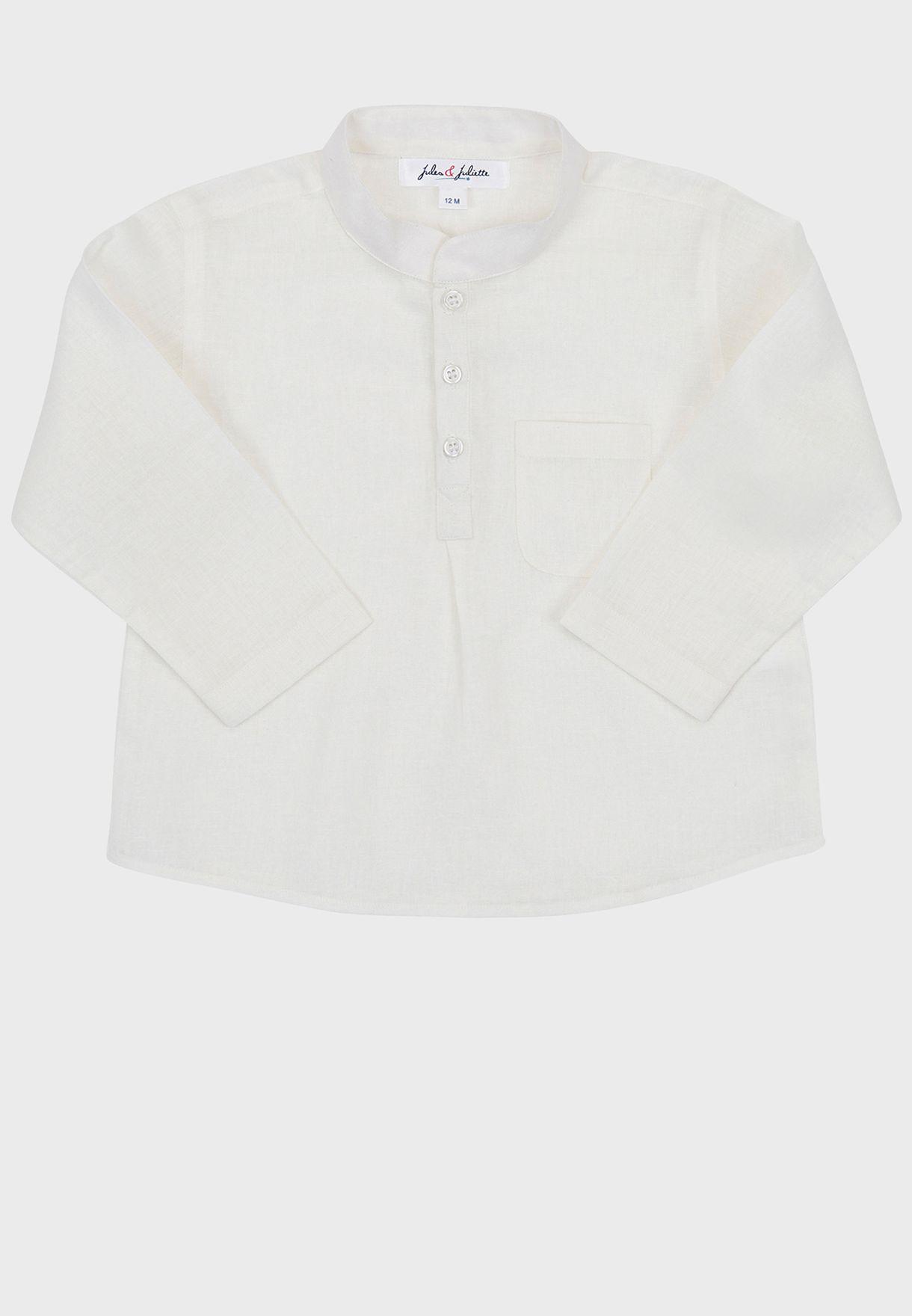 قميص كلاسيكي بياقة صينية