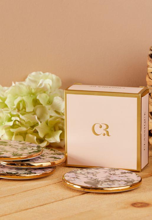 Set of 4 Belle De Fleur Drink Coasters