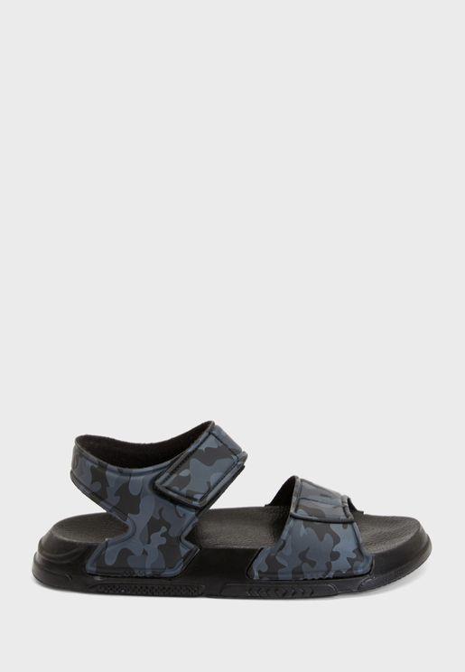 Youth Camo Print Sandal