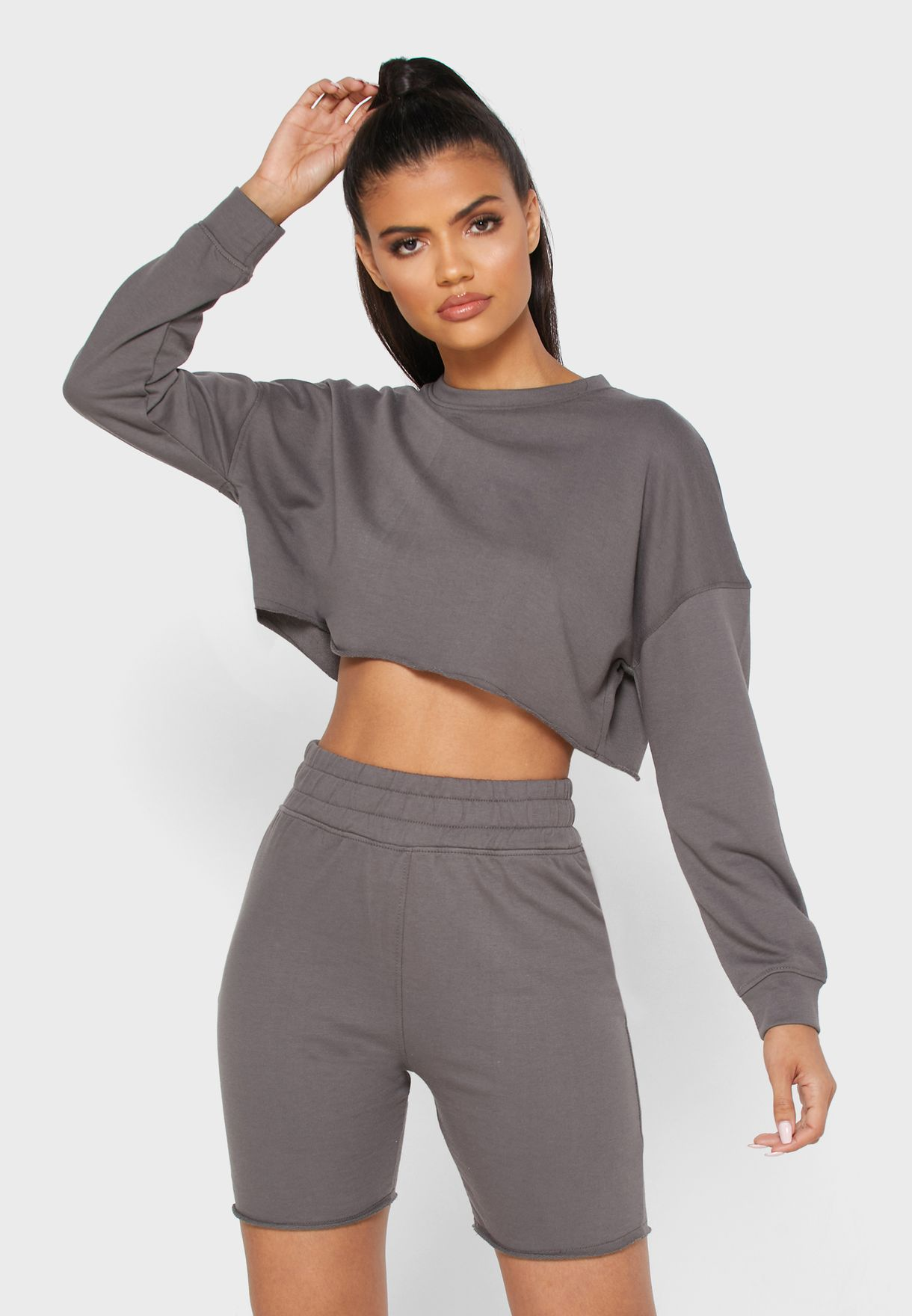 Cycling Shorts & Sweater Set Co Ord