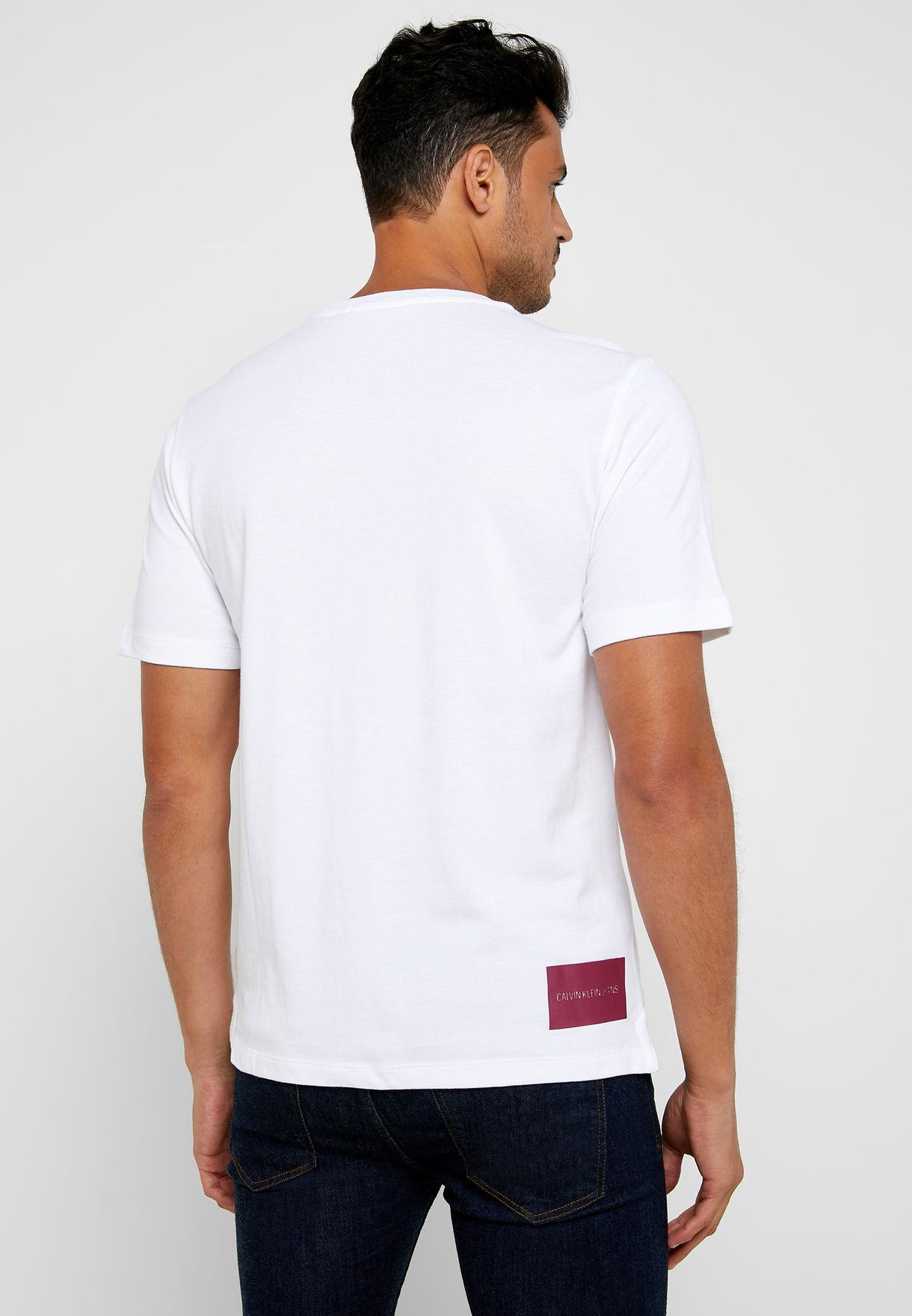 Instit Pique Pocket Crew Neck T-Shirt