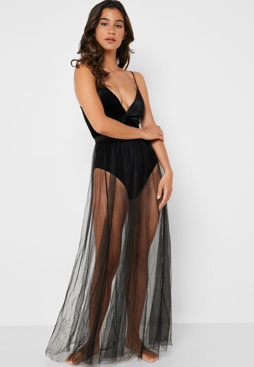 Mesh Night Skirt
