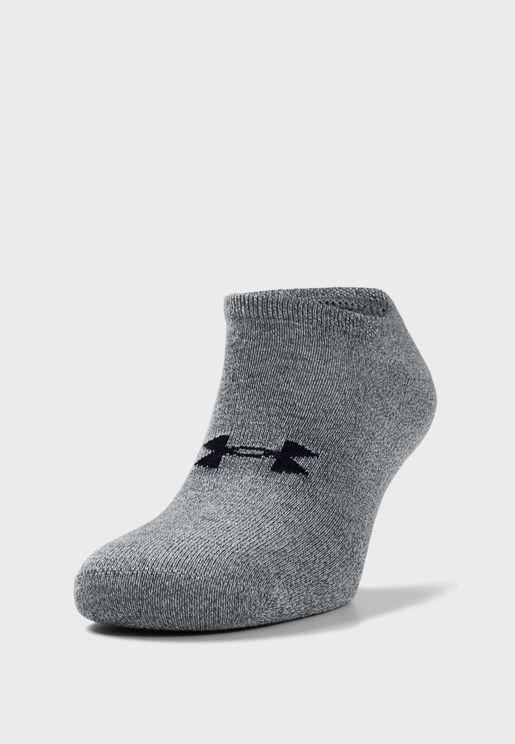 6 Pack Essential No Show Socks
