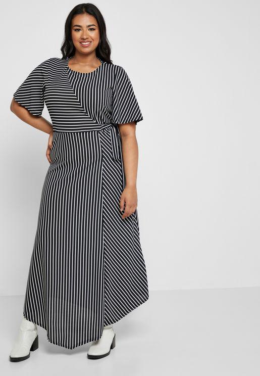 Tie Waist Striped Dress
