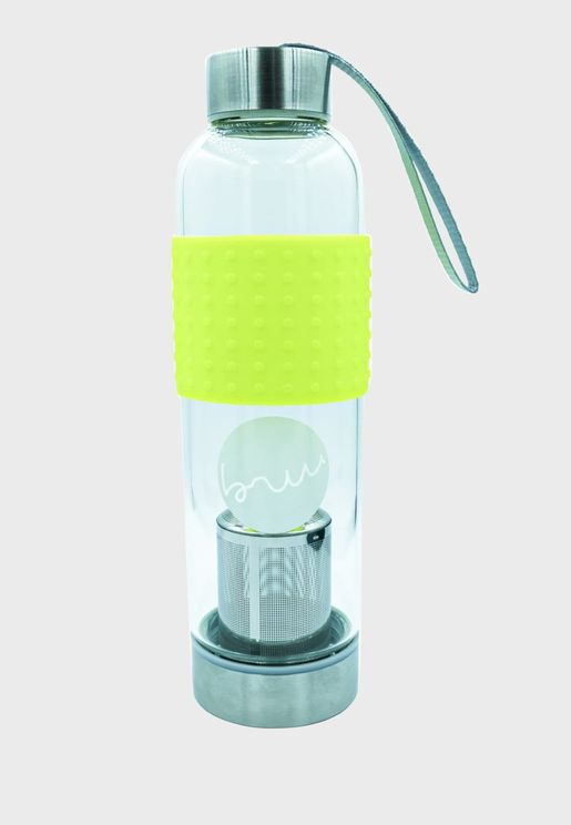 Tea To Go - Glass Bottle Neon Yellow - 500ml