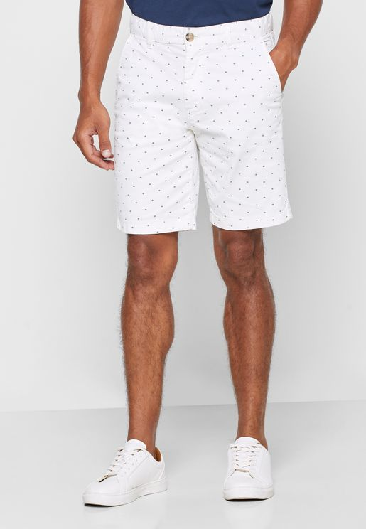 Geometric Print Chino Shorts