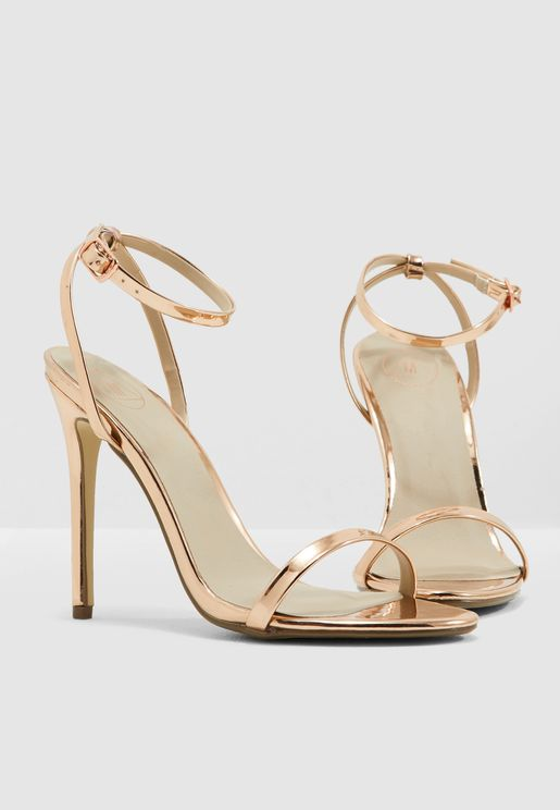 Basic Barely There Heels - Rosegold
