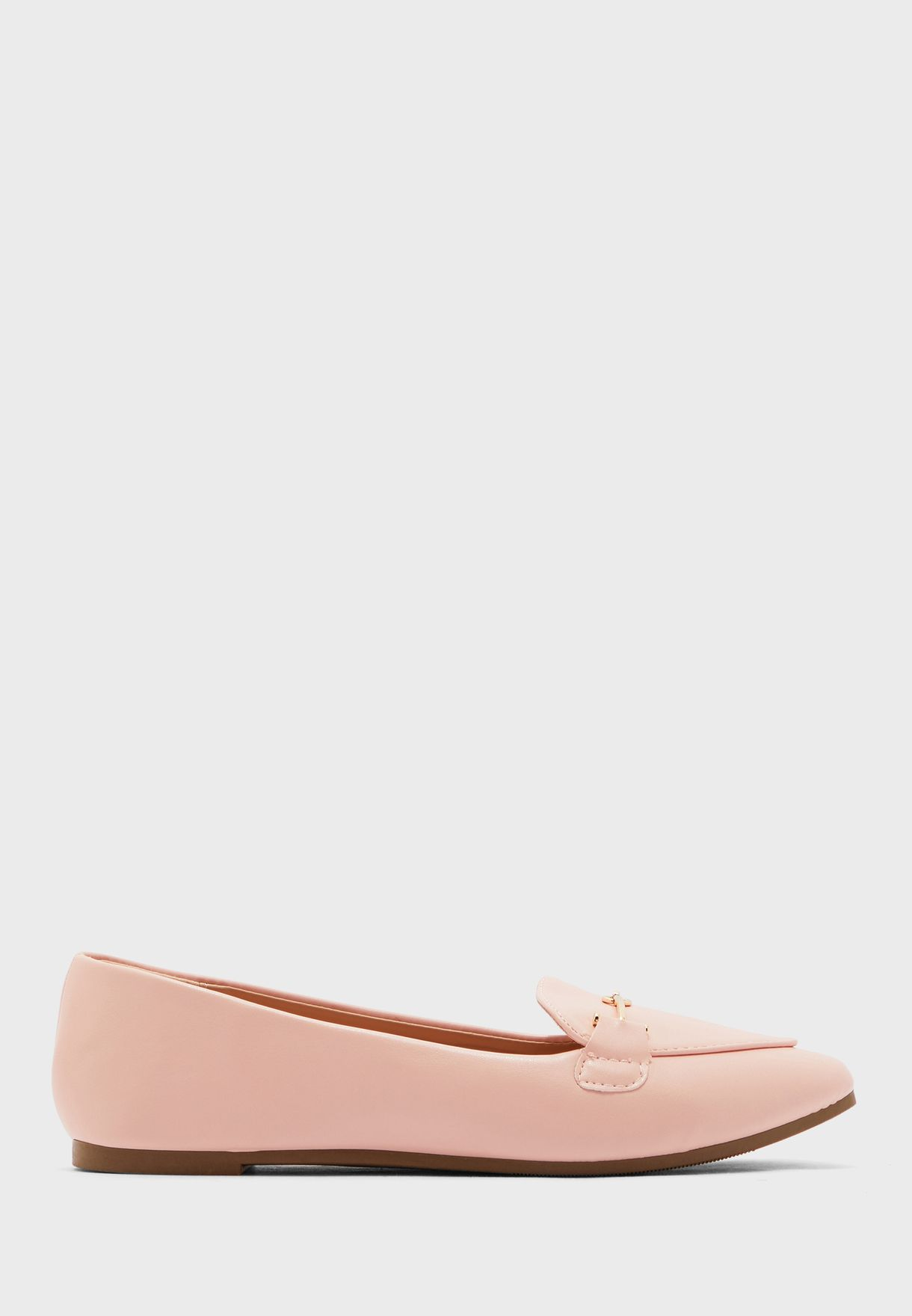 Pointed Metal Tbar Loafer