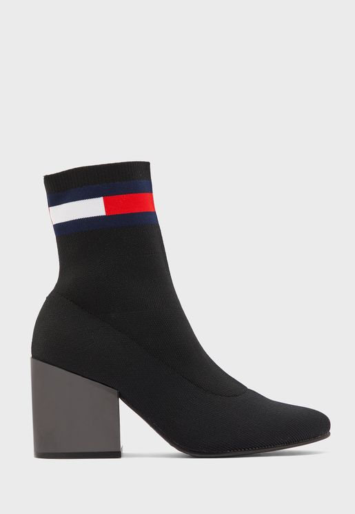 Flag Sock Ankle Boot
