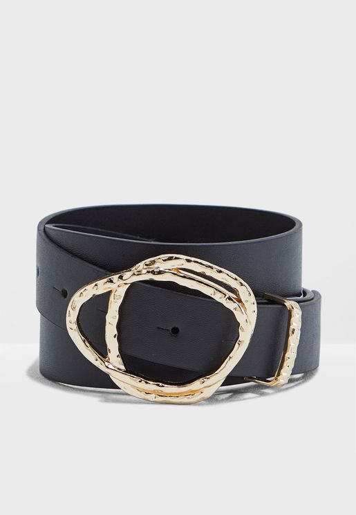 Jeans Belt With Buckle Detail