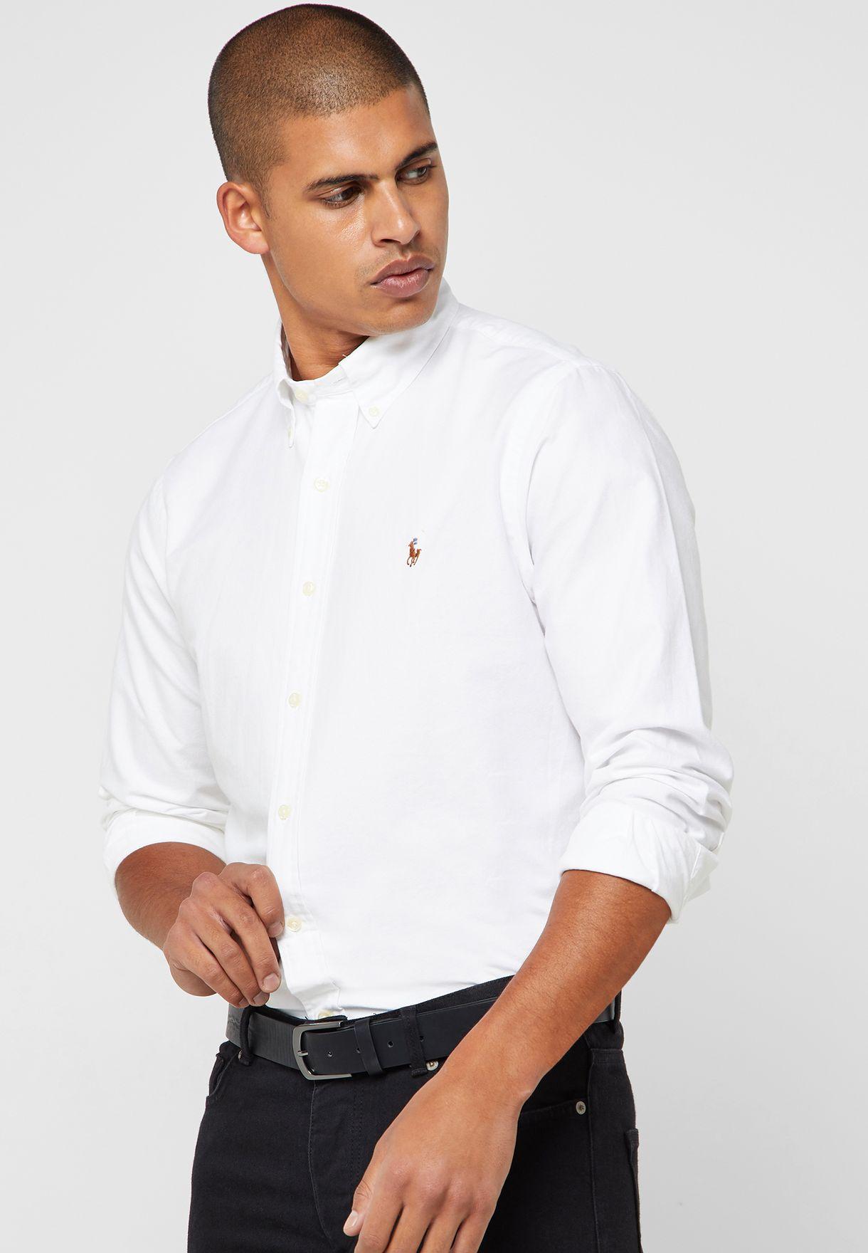 d1e2a52f365e8 Shop Polo Ralph Lauren white Classic Fit Oxford Shirt 710548535001 for Men  in Qatar - 13008AT73WMP