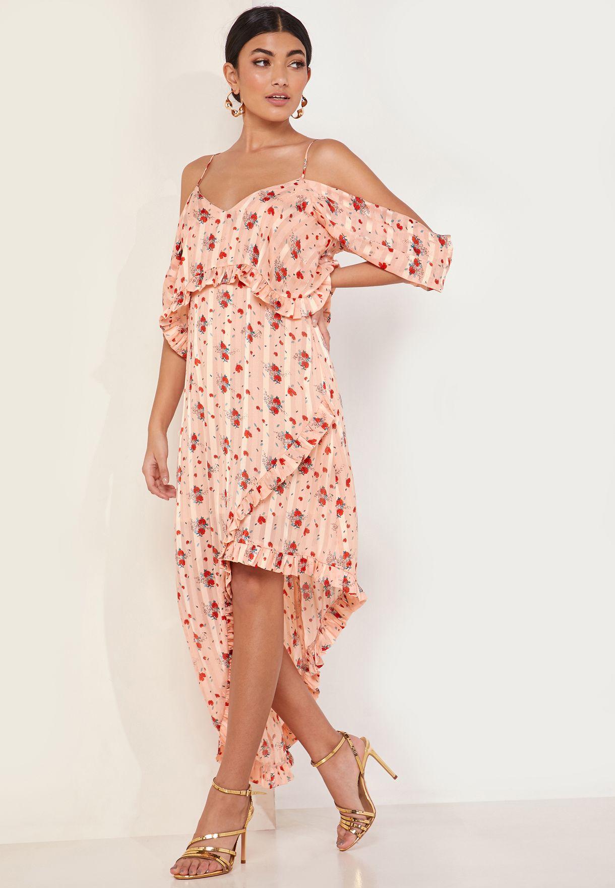 Fern Floral Print Cold Should Midi Dress