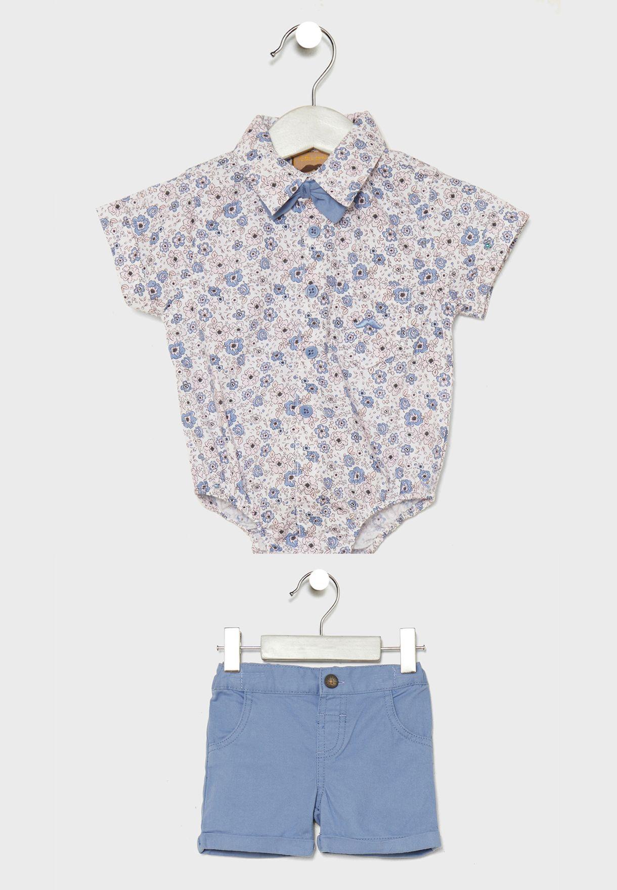 Infant Printed Shirt + Shorts Set