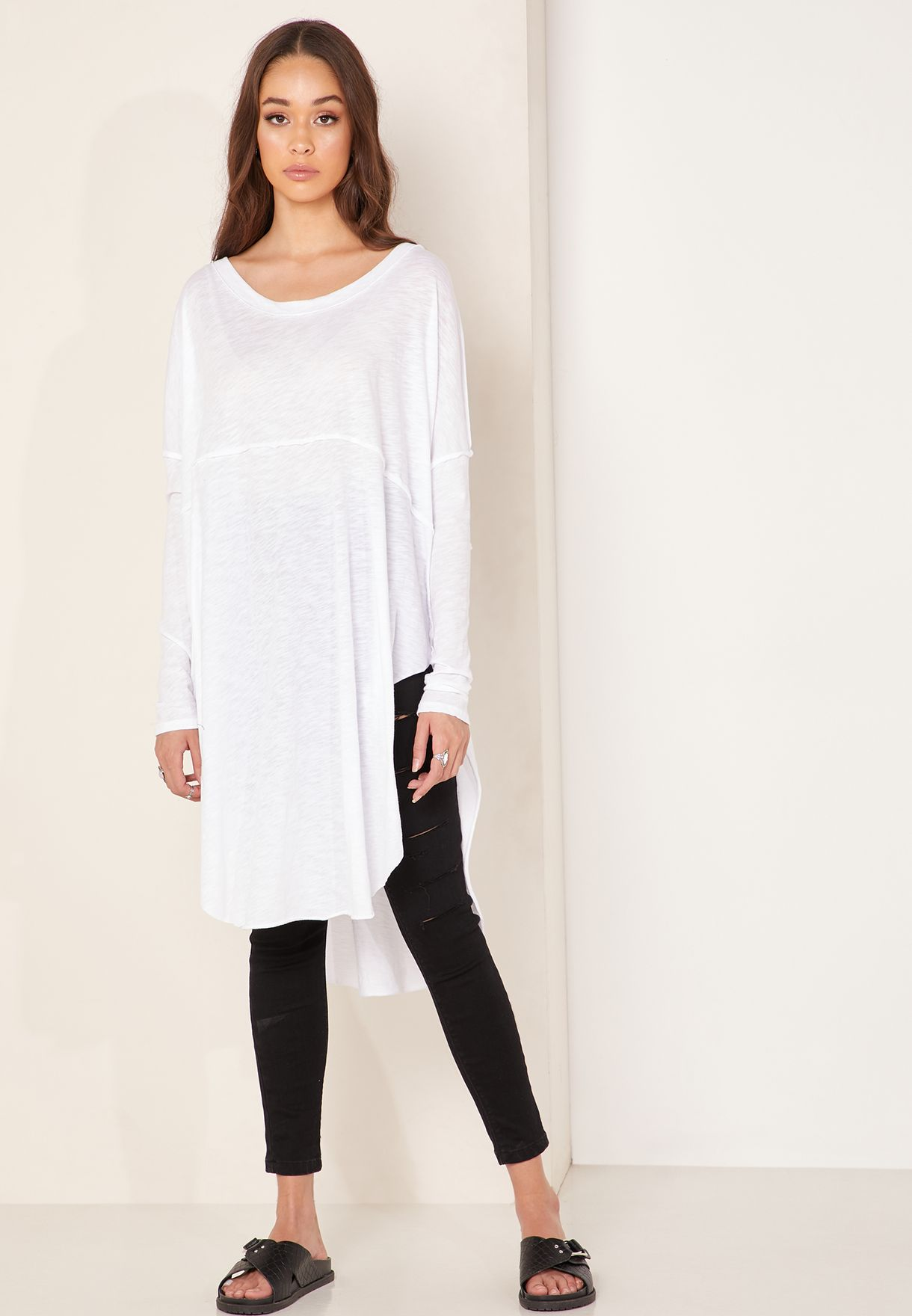 Tell Tale Side Split Longline Top