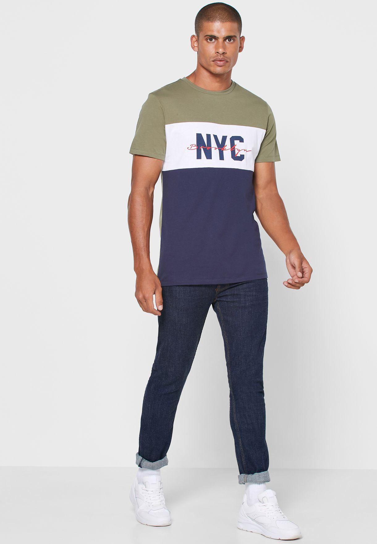 NYC Colour Block T Shirt