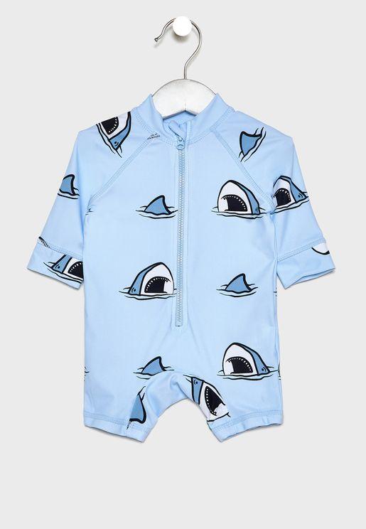 Infant Shark Romper
