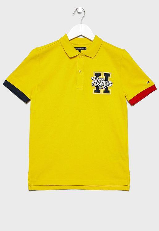 Teen Varsity Badge Polo