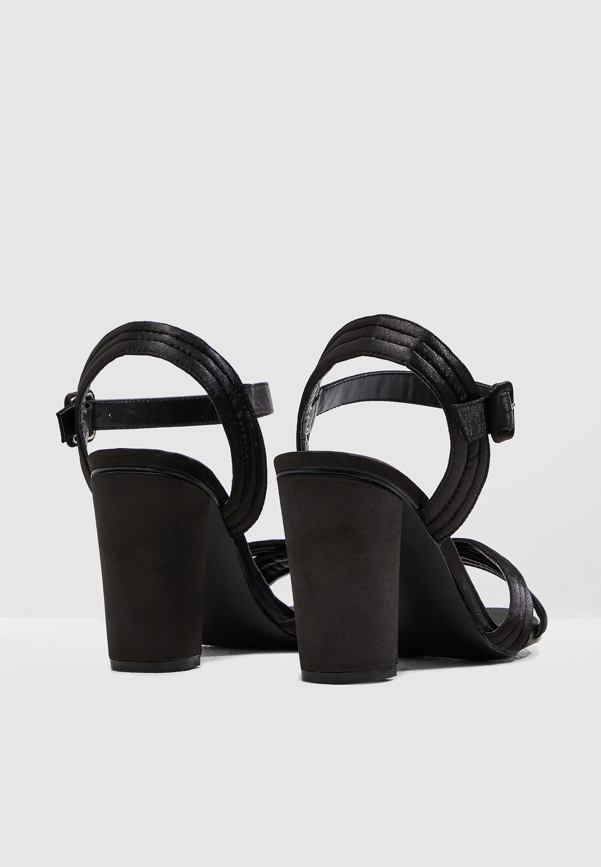 Ginger Satin Quilted Sandal - Brand Shoes