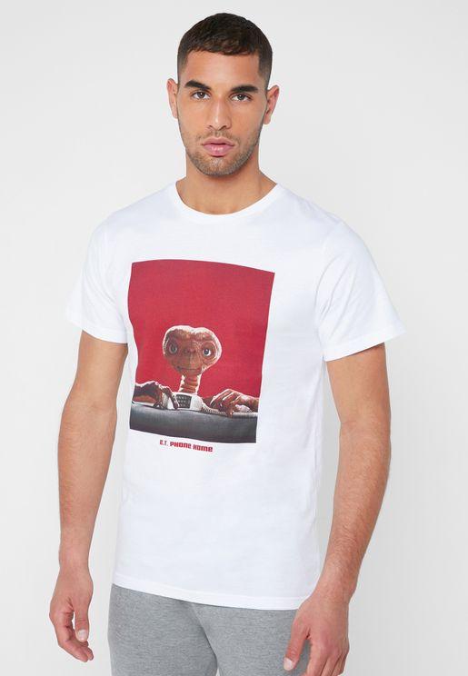 E.T. Phone Home Crew Neck T-Shirt