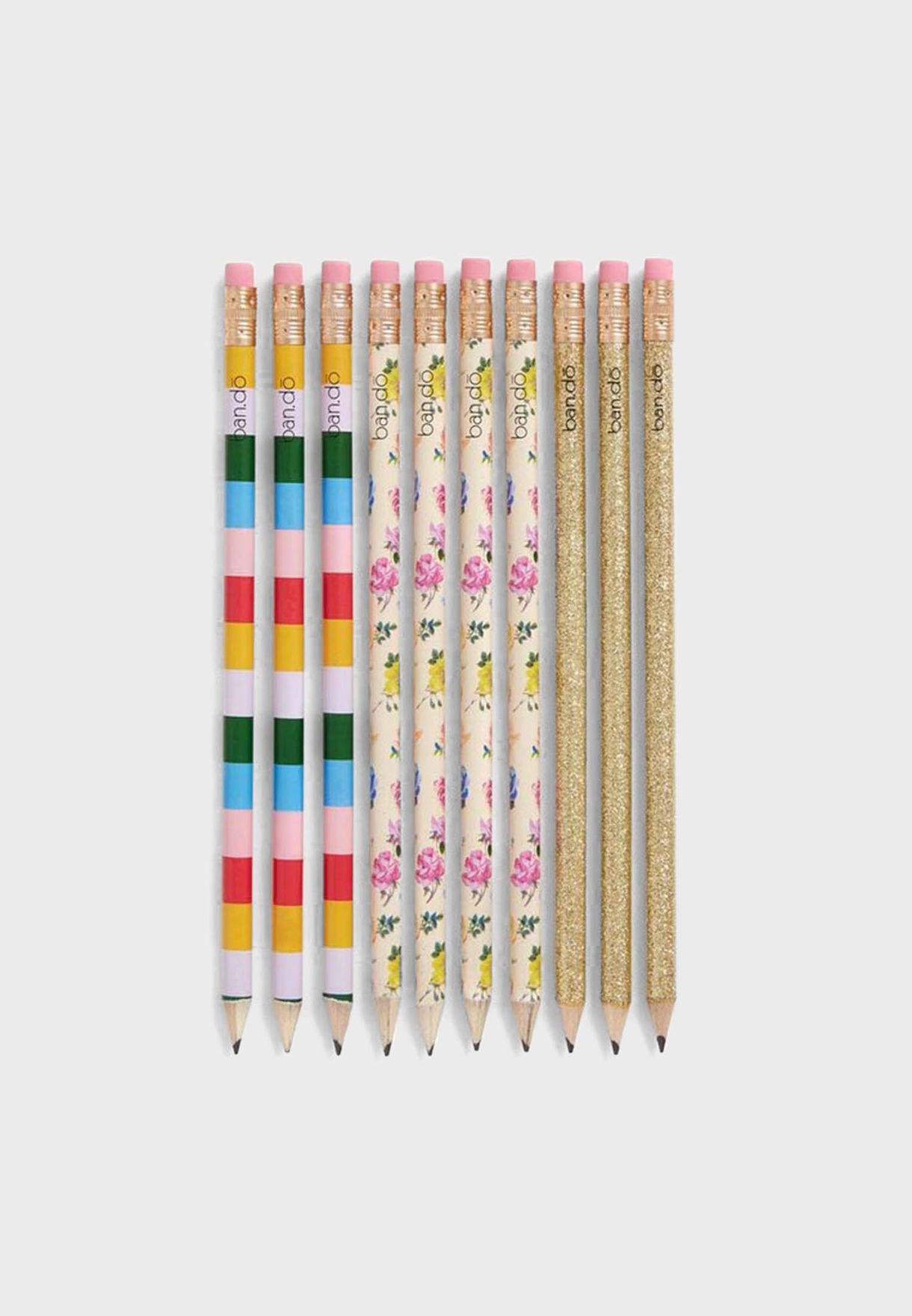 Set Of 3 Floral Pens