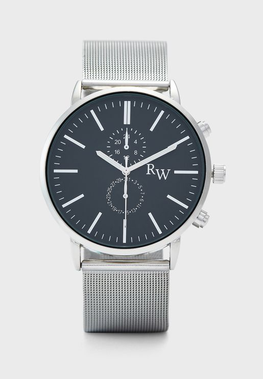 Mesh Strap Analogue Watch
