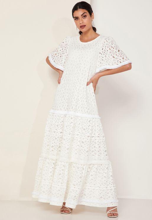 فستان ماكسي دانتيل