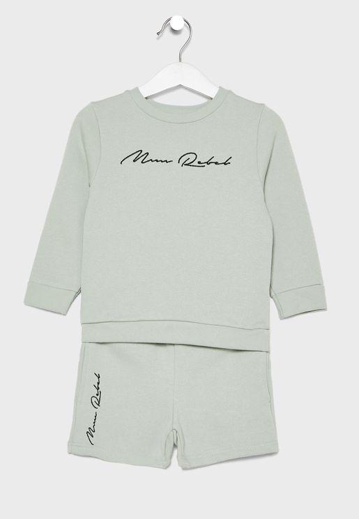 Infant Mini Rebel Sweatshirt + Shorts Set
