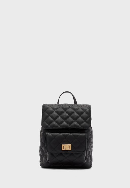Quilted Flap Backpack