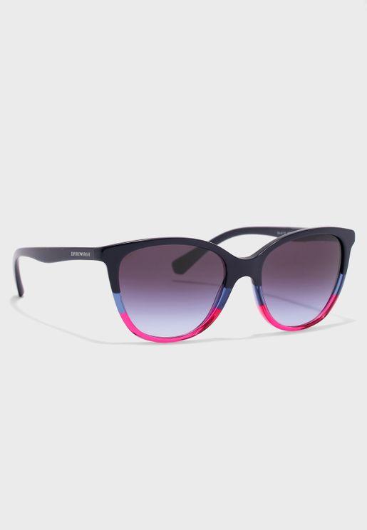 نظارة شمسية مزينة بزهور