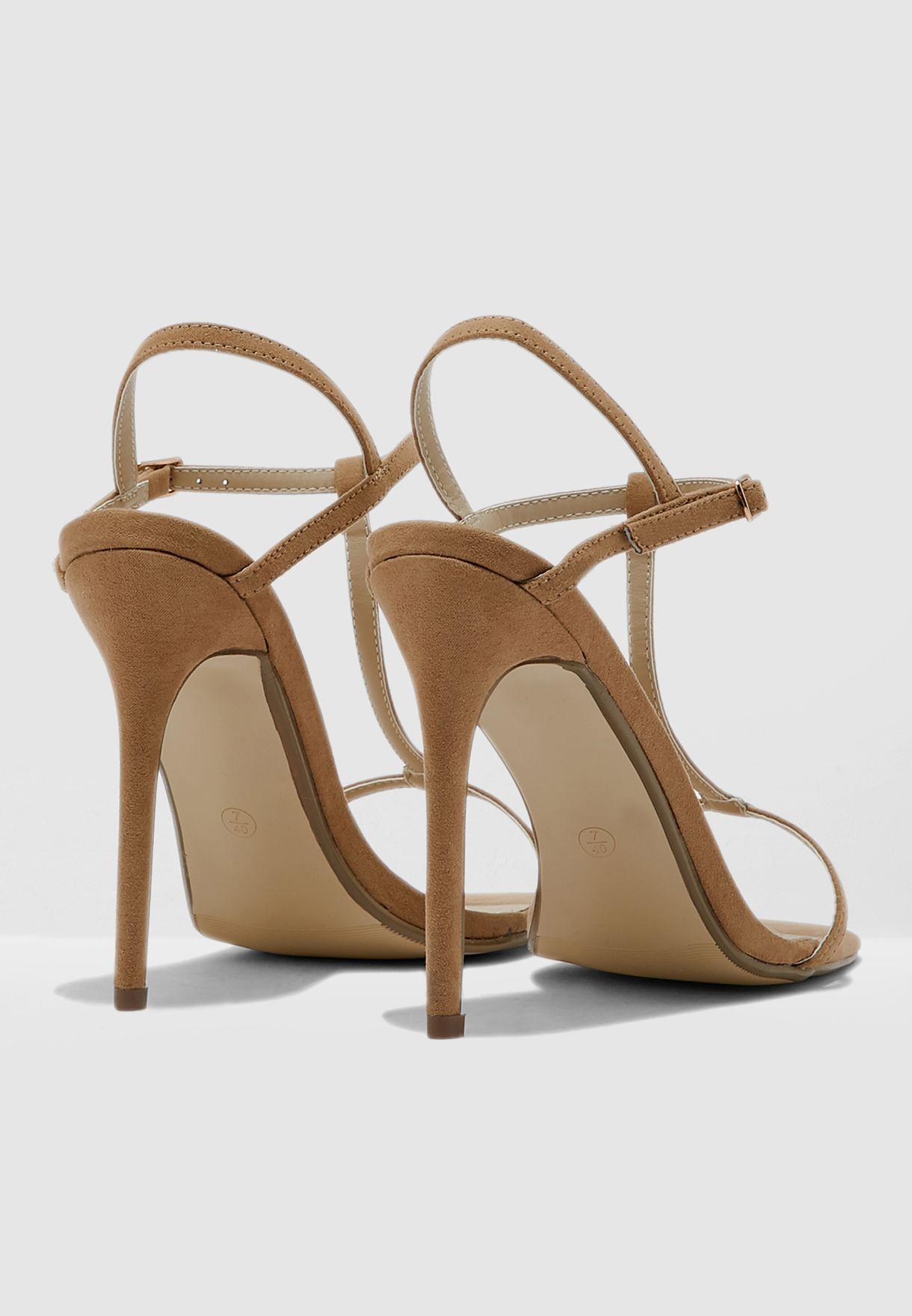 Square Toe T Bar Sandal