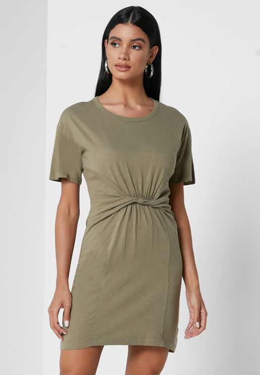 Twisted T-Shirt Dress