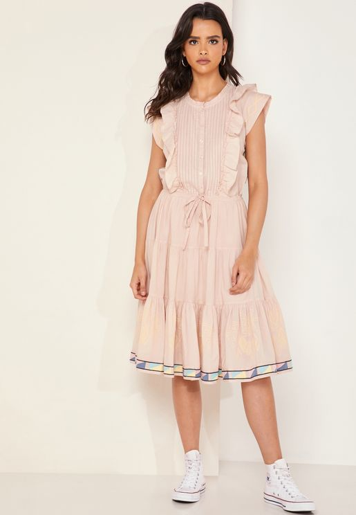 Romax Ruffle Detail Dress
