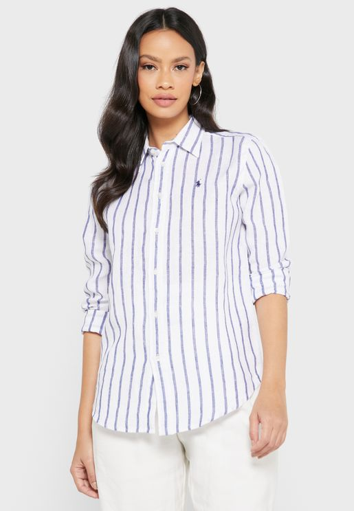 Logo Striped Shirt