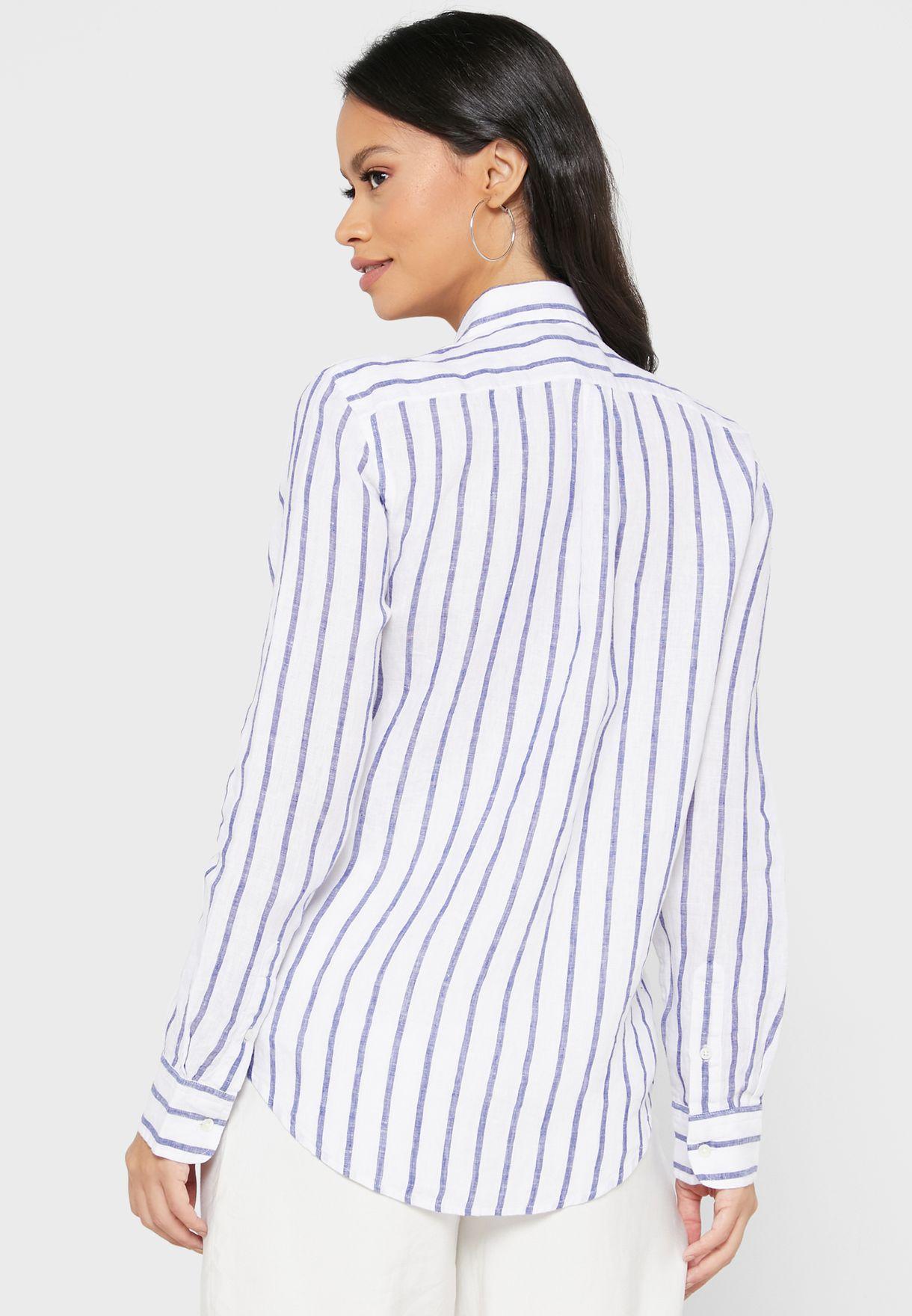 Logo Striped Shirt
