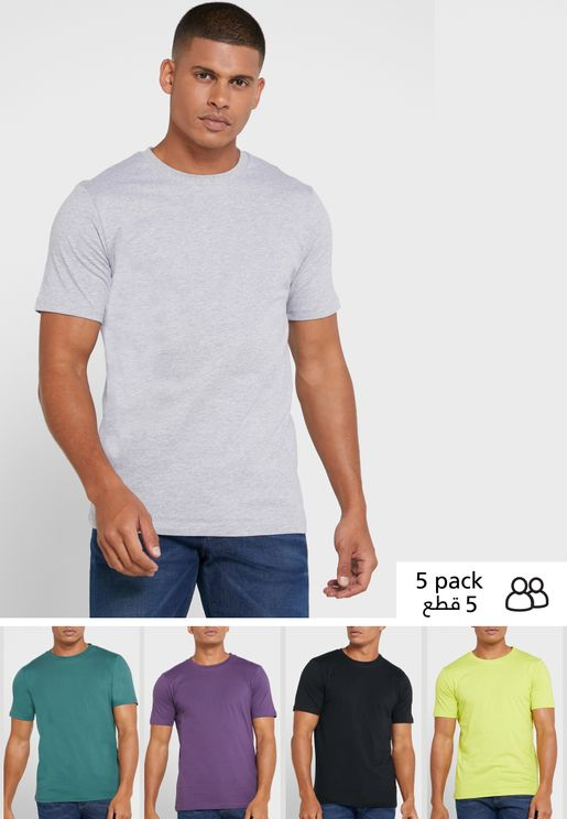 5 Pack Crew Neck T-Shirts