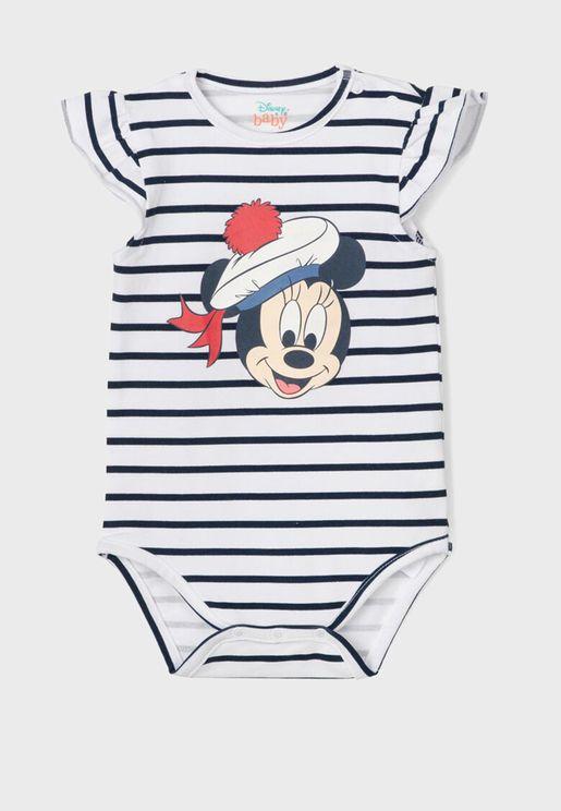 Infant Mickey Mouse Print Bodysuit