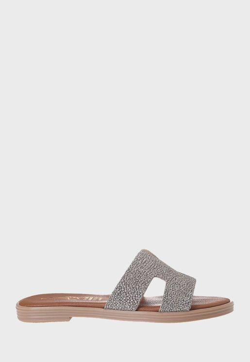 Cut Out Flat Sandal