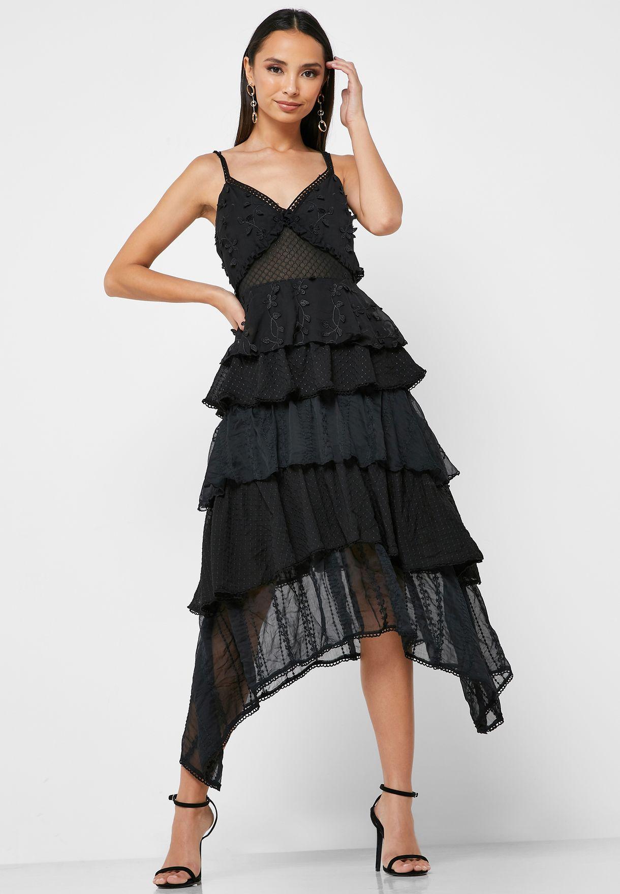 فستان مزين بازهار