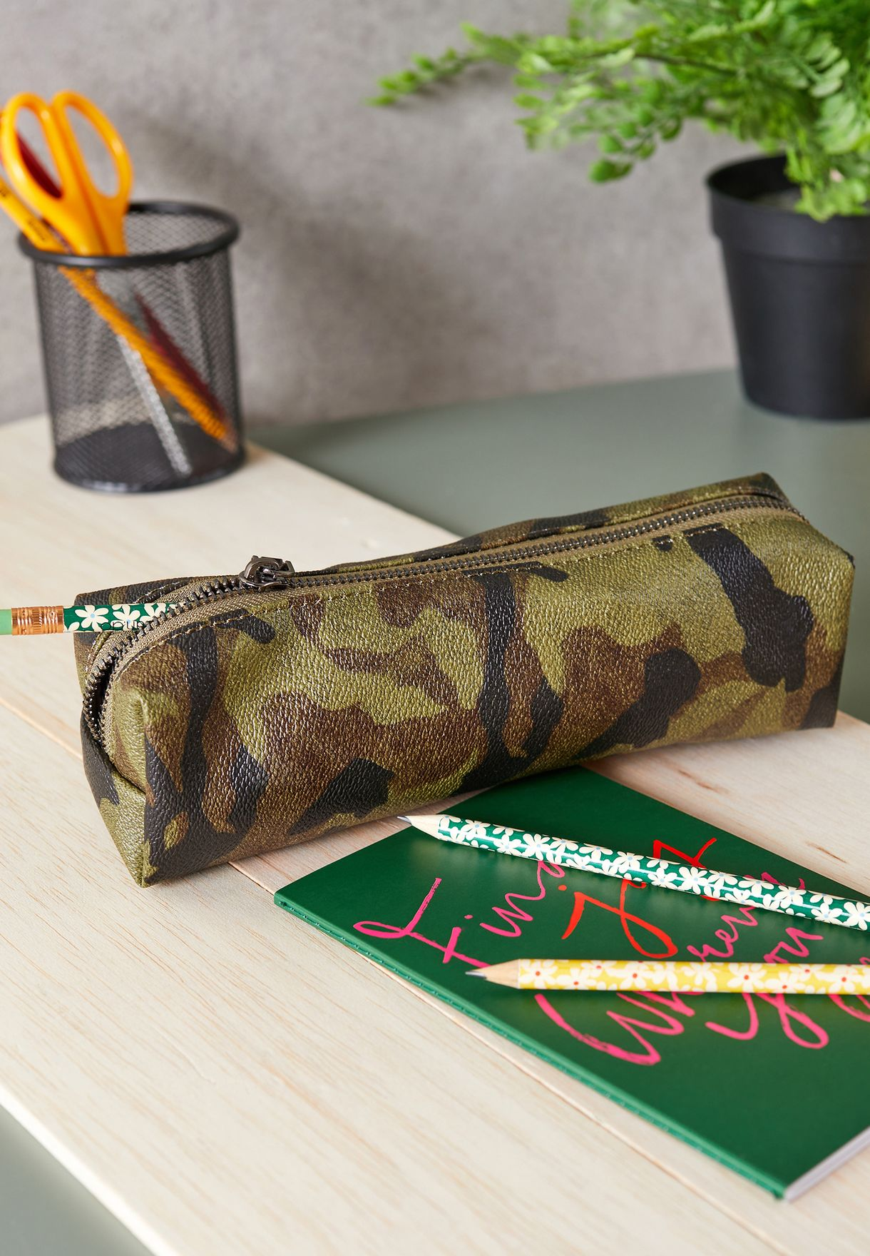 Camo Printed Pencil Case