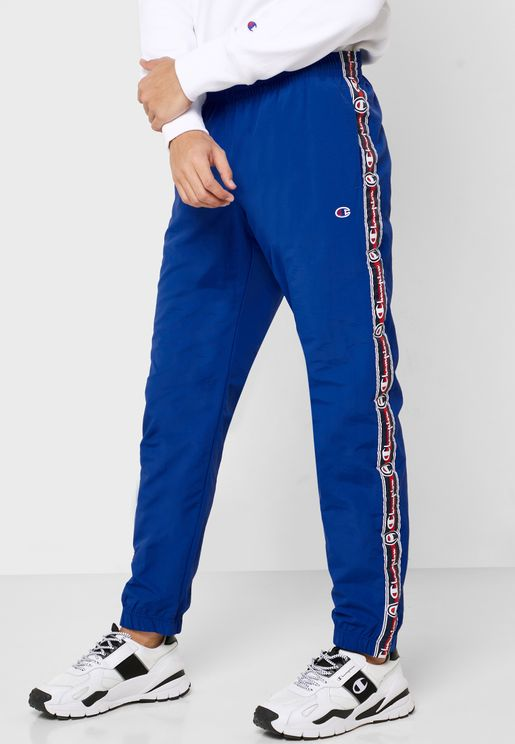 Logo Tape Cuffed Sweatpants
