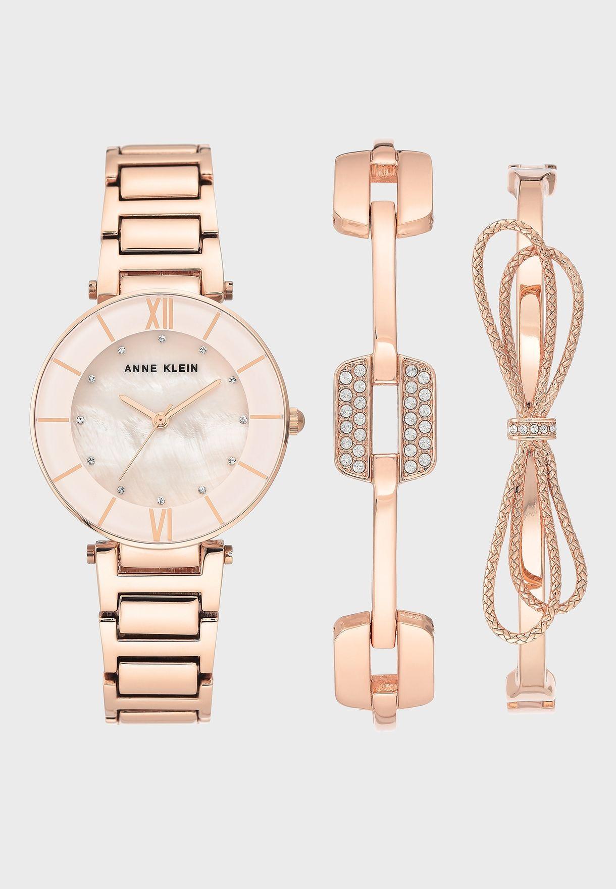 AK3366BHST Watch And Bracelet Gift Set