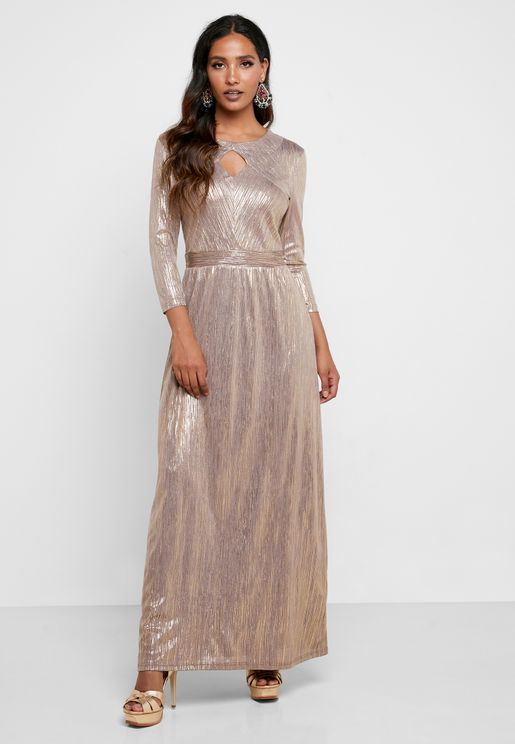Shimmer Keyhole Dress