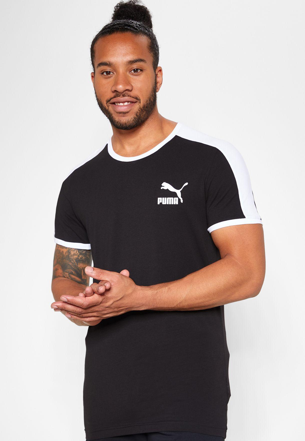 e2f81f671a7 Shop PUMA black Iconic T7 Slim T-Shirt 57797901 for Men in Saudi ...