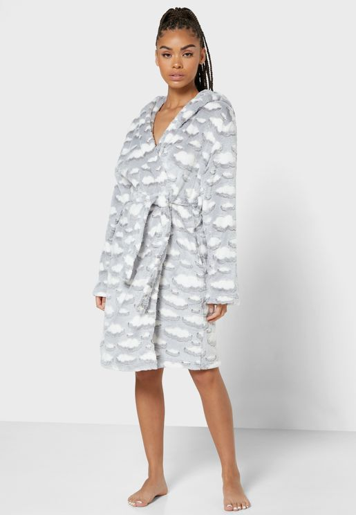 Cloud Fleece Hooded Robe