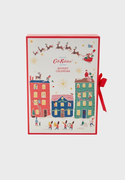 Christmas Village Advent Calendar Gift Set