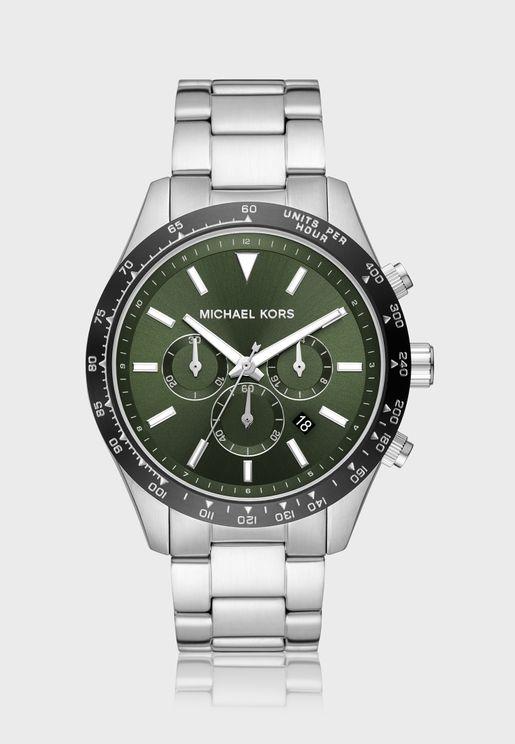 Classic Steel Strap Analog Watch